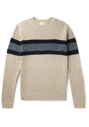 Hartford - Striped Wool-Blend Sweater - Men - Neutrals
