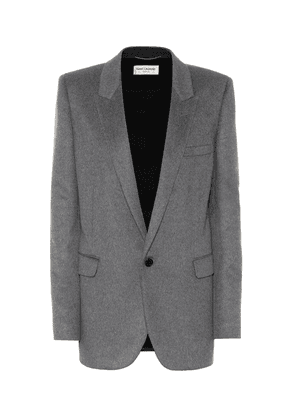 Cashmere and wool flannel blazer