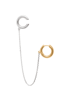 Alan Crocetti SSENSE Exclusive Silver and Gold Mini Loophole Earring and Ear Cuff