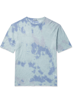 Our Legacy - Tie-Dyed Knitted Linen T-Shirt - Men - Blue