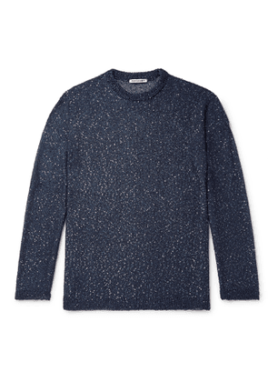 Our Legacy - Sequin-Embellished Knitted Sweater - Men - Blue
