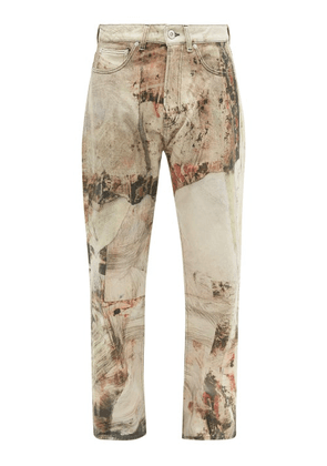 Our Legacy - Third Cut Printed Wide-leg Jeans - Mens - Multi