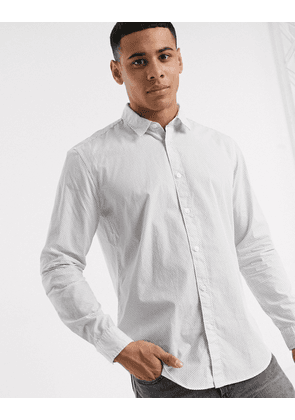 Esprit shirt in long sleeve with ditsy print-White