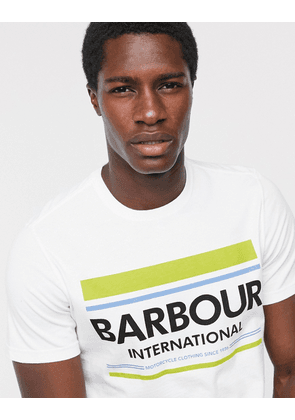Barbour International Control large logo t-shirt in white