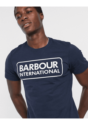 Barbour International essential large logo t-shirt in navy