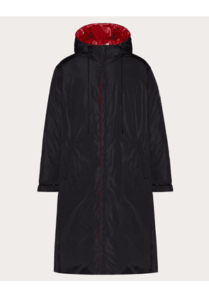 Valentino Uomo Reversible Down Coat With Vltn Tag Man Black/ Red 100% Poliammide 44