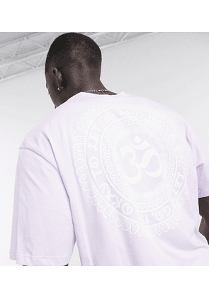 Only & Sons oversized t-shirt with Om back print in lilac Exclusive at ASOS-Purple