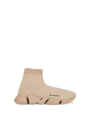 Balenciaga Speed 2.0 Camel Stretch-knit Sneakers