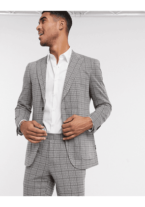 Only & Sons suit jacket in heritage check-Blue