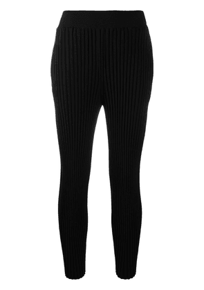 Stella McCartney pleated knitted trousers - Black
