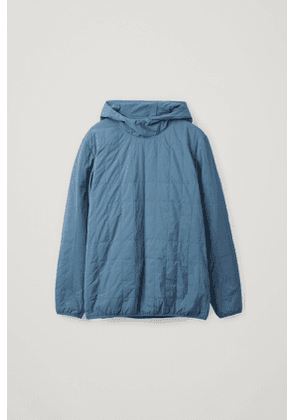 RECYCLED POLYAMIDE QUILTED PULLOVER JACKET