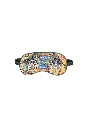Jessica Russell Flint Z For Zebra Printed Silk Eye Mask