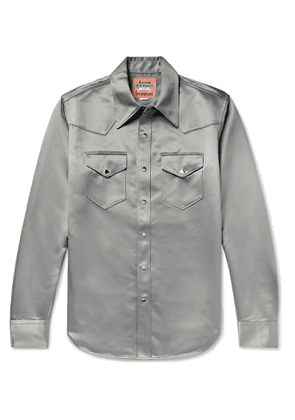 ACNE STUDIOS - Satin Western Shirt - Men - Gray