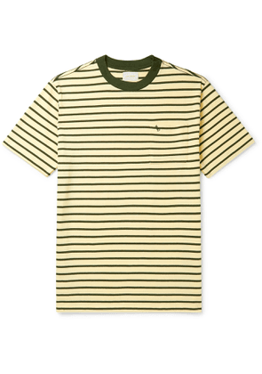 Aimé Leon Dore - Logo-Embroidered Striped Cotton-Jersey T-Shirt - Men - Neutrals