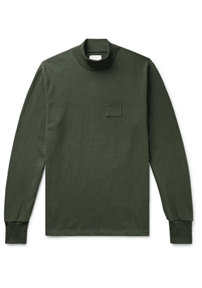 Aimé Leon Dore - Cotton-Jersey Mock-Neck T-Shirt - Men - Green
