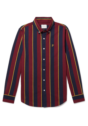 Aimé Leon Dore - Button-Down Collar Striped Cotton Oxford Shirt - Men - Burgundy