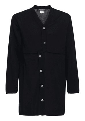 Asymmetric Long Wool Cardigan