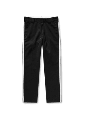 Carhartt WIP - Motown Records Tapered Striped Twill Trousers - Men - Black