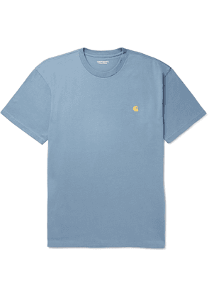Carhartt WIP - Chase Logo-Embroidered Cotton-Jersey T-Shirt - Men - Blue