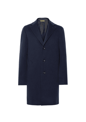 Canali - Wool and Cashmere-Blend Overcoat - Men - Blue