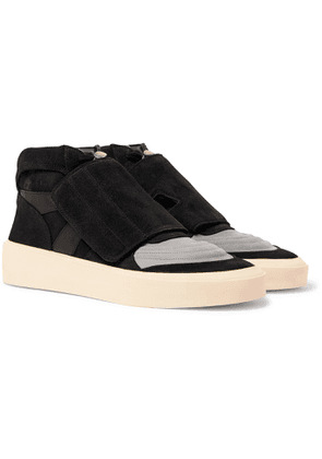 Fear of God - Skate Mid Leather and Suede Sneakers - Men - Black