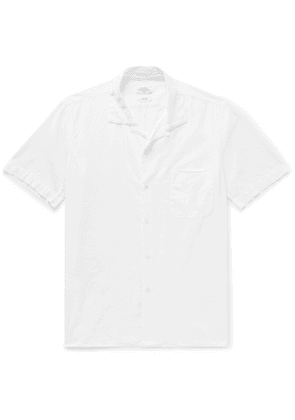 Hartford - Slim-Fit Camp-Collar Cotton-Poplin Shirt - Men - White
