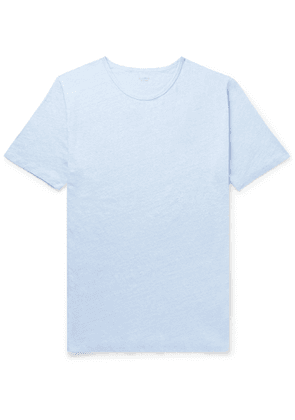 Hartford - Mélange Linen-Jersey T-Shirt - Men - Blue
