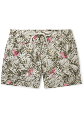 Hartford - Mid-Length Printed Swim Shorts - Men - Neutrals