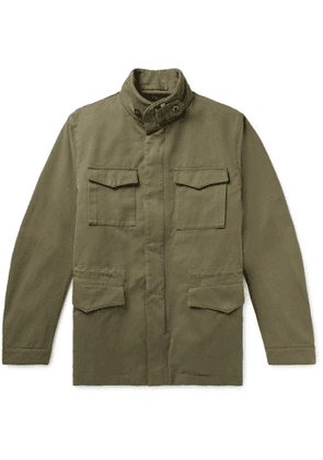 Incotex - Montedoro Cotton-Twill Field Jacket with Detachable Woven Lining - Men - Green