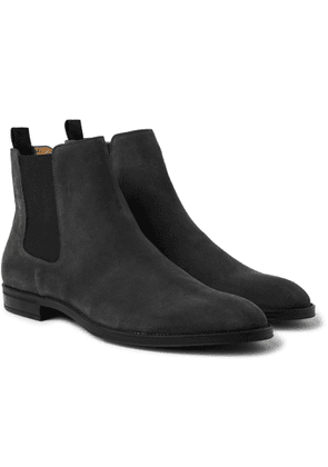 Hugo Boss - Coventry Suede Chelsea Boots - Men - Gray