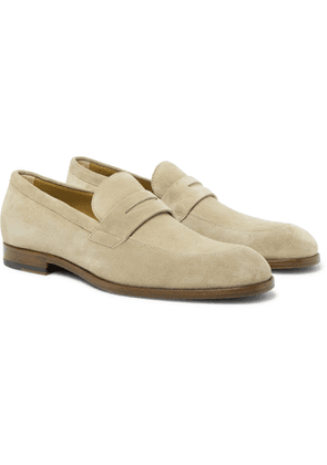 Hugo Boss - Brighton Suede Penny Loafers - Men - Neutrals
