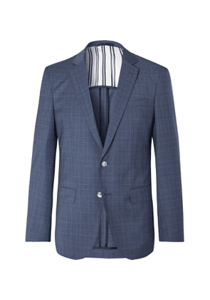 Hugo Boss - Blue Hartley Slim-Fit Prince of Wales Checked Virgin Wool Suit Jacket - Men - Blue