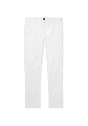 Hugo Boss - Navy Slim-Fit Garment-Dyed Stretch-Cotton Twill Chinos - Men - White