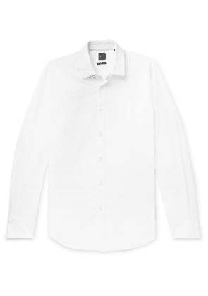 Hugo Boss - Lukas Cotton and Linen-Blend Shirt - Men - White