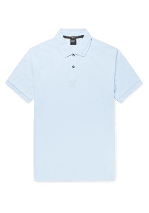 Hugo Boss - Pallas Slim-Fit Cotton-Piqué Polo Shirt - Men - Blue