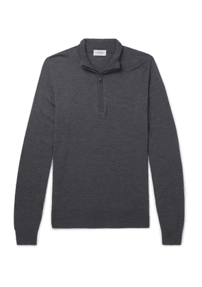 John Smedley - Tapton Slim-Fit Merino Wool Half-Zip Sweater - Men - Gray