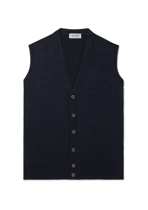 John Smedley - Staveley Merino Wool Sweater Vest - Men - Blue