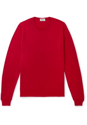 John Smedley - Lundy Slim-Fit Merino Wool Sweater - Men - Red