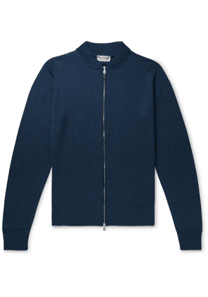 John Smedley - Maclean Slim-Fit Wool Cardigan - Men - Blue