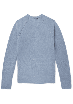 James Perse - Waffle-Knit Cashmere Sweater - Men - Blue