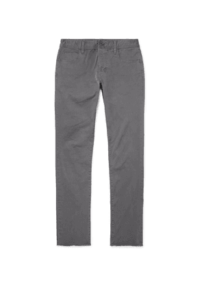 James Perse - Grey Slim-Fit Cotton-Blend Twill Trousers - Men - Gray