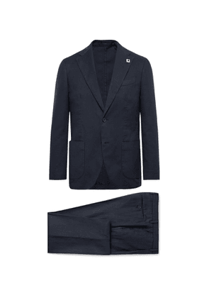 Lardini - Navy Slim-Fit Linen-Blend Suit - Men - Blue