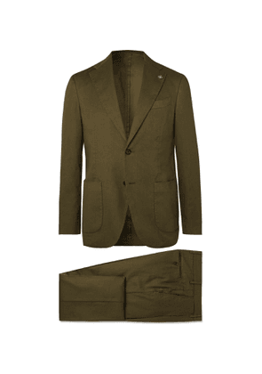 Lardini - Navy Slim-Fit Linen-Blend Suit - Men - Green