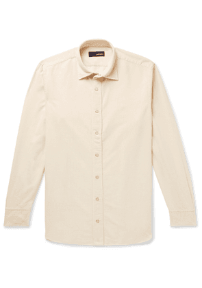 Lardini - Slim-Fit Cotton-Corduroy Shirt - Men - Neutrals
