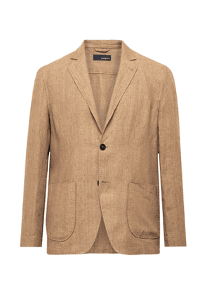 Lardini - Unstructured Linen Blazer - Men - Brown