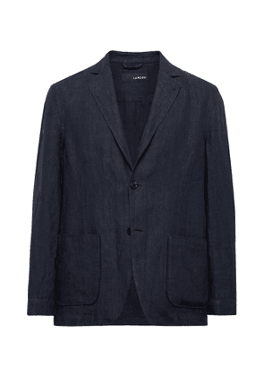Lardini - Unstructured Linen Blazer - Men - Blue