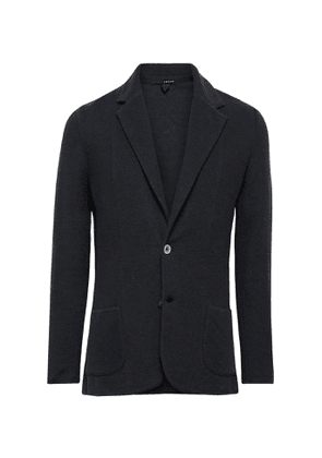 Lardini - Midnight-Blue Slim-Fit Linen and Silk-Blend Blazer - Men - Blue