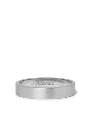 Miansai - Brushed Sterling Silver Ring - Men - Silver