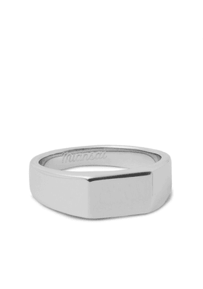 Miansai - Polished Sterling Silver Signet Ring - Men - Silver