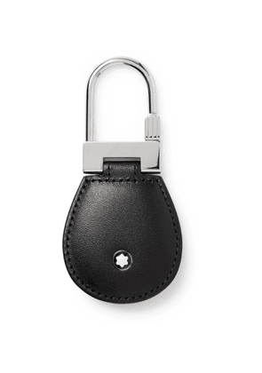 Montblanc - Meisterstück Leather and Palladium-Plated Key Fob - Men - Black